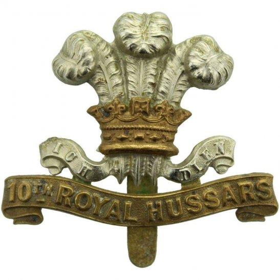 10th Royal Hussars WW1 10th Royal Hussars Regiment Cap Badge