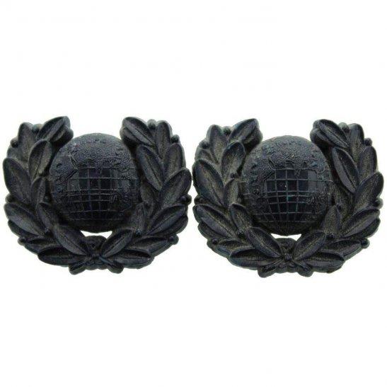 Royal Marines WW2 Royal Marines Corps PLASTIC Collar Badge PAIR