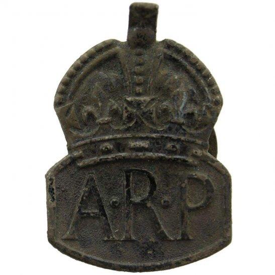 Air Raid Precautions ARP UK Dug Detecting Find - WW2 Air Raid Precautions ARP Relic Cap Badge