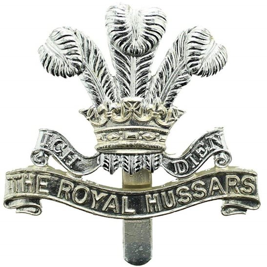 The Royal Hussars Regiment Staybrite Anodised Cap Badge - Staybright