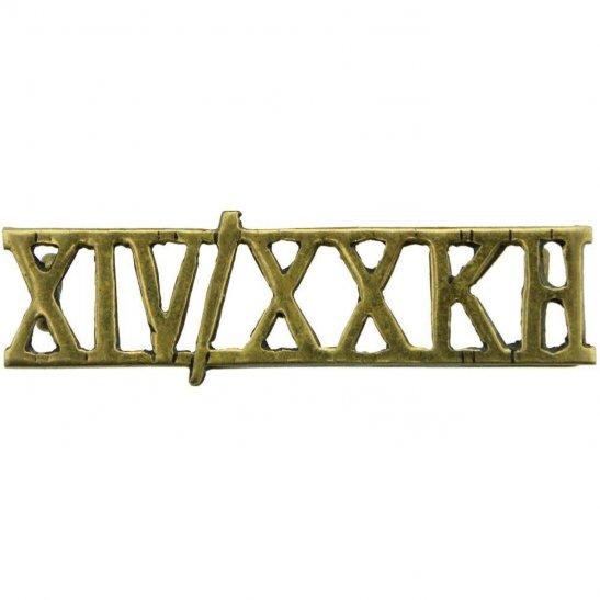 14th/20th Kings Hussars 14th / 20th Kings Hussars Regiment Shoulder Title - XIV/XXKH
