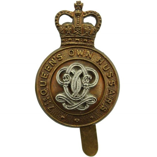 7th Hussars 7th Queens Own Hussars Regiment Cap Badge - Queen's Crown