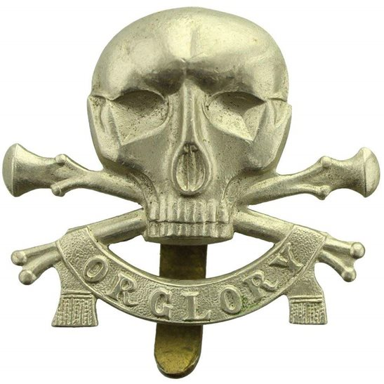 17th / 21st Lancers WW1 17th / 21st Lancers (Deaths Head) Regiment Cap Badge