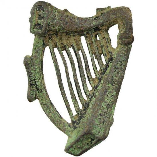 5th Royal Irish Lancers UK Dug Detecting Find - WW1 5th Royal Irish Lancers Regiment Relic Collar Badge