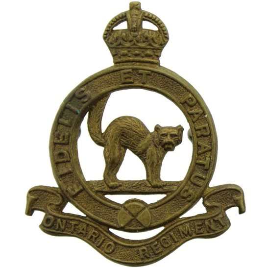WW2 Canadian Army WW2 Canadian Ontario Regiment Canada Corps CEF Collar Badge