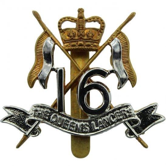 16th Lancers 16th (The Queens Lancers) Regiment Cap Badge J.R. GAUNT B'HAM - Queen's Crown