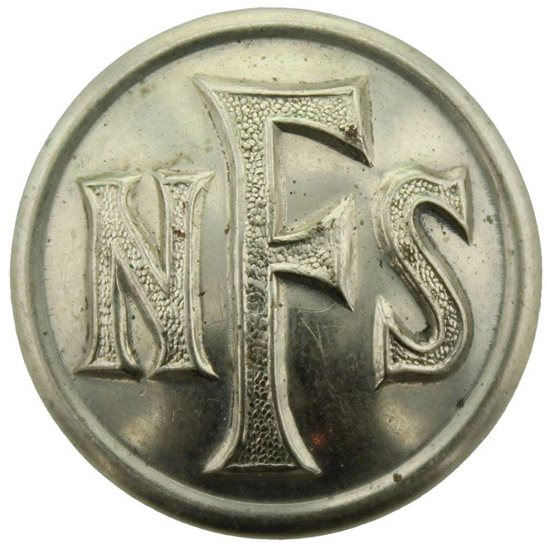 Welsh Guards WW2 National Fire Service Brigade Corps NFS Tunic Button - 25mm