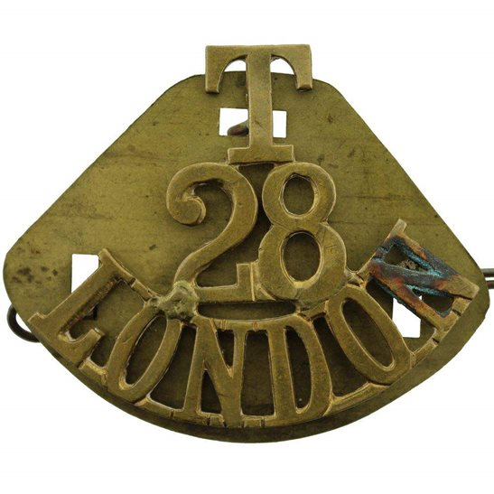 Artists Rifles 28th Territorial Battalion (Artists Rifles) London Regiment Shoulder Title