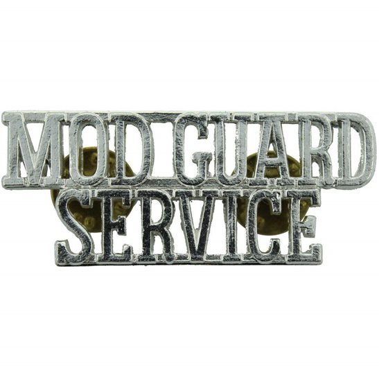 Ministry of Defence MOD Ministry of Defence MOD Guard Service Staybrite Anodised Shoulder Title - Staybright