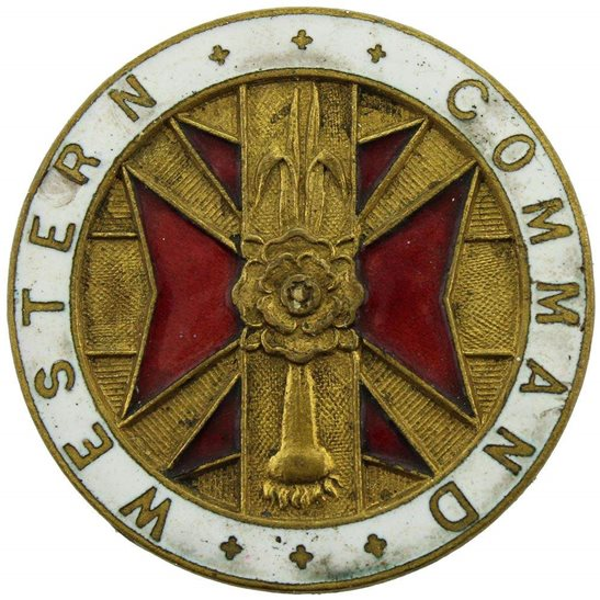Welsh Guards WW2 Welsh Guards Western Command Welch Enamel Lapel Badge