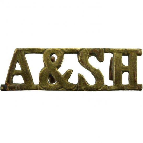 Argyll and Sutherland Highlanders Argyll & Sutherland Highlanders Regiment Scottish Shoulder Title