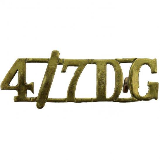4th/7th Royal Dragoon Guards 4th / 7th Dragoon Guards Regiment 4th/7th Shoulder Title