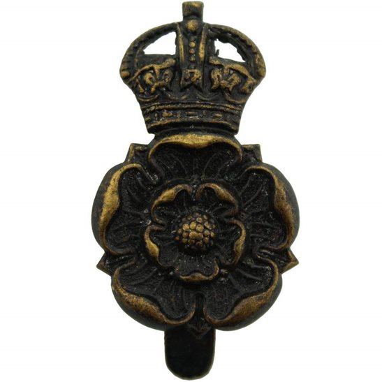Yorkshire Dragoons WW1 Queens Own Yorkshire Dragoons Yeomanry Regiment Cap Badge - F.N. B'HAM