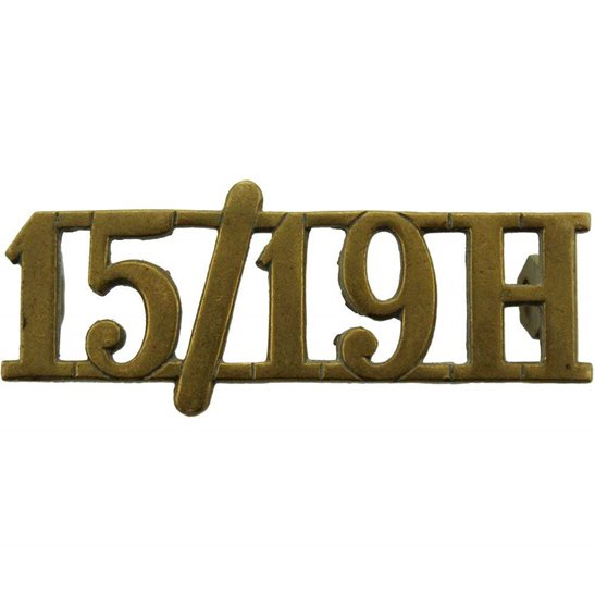 15th / 19th The Kings Royal Hussars WW2 15th / 19th The Kings Royal Hussars Regiment King's Shoulder Title