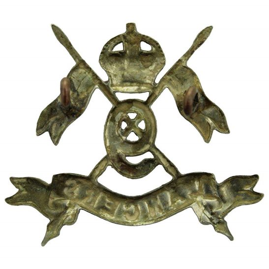 additional image for 9th Queens Royal Lancers Regiment Cap Badge - EARLY LUGS VERSION