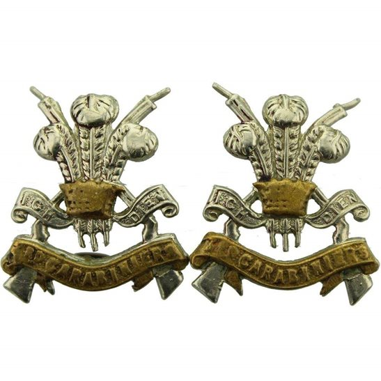 3rd Carabiniers 3rd Carabiniers Regiment Collar Badge PAIR