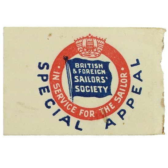 additional image for WW1 British & Foreign Sailors Society Merchant Navy Flag Day Fundraising Pin Badge