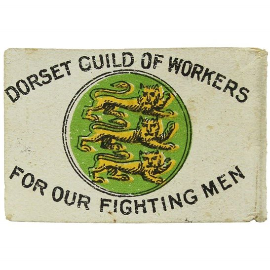 additional image for WW1 Dorset Guild of Workers FOR OUR FIGHTING MEN Flag Day Fund Pin Badge