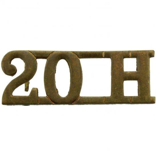 20th Hussars WW1 20th Hussars Regiment 20H Shoulder Title