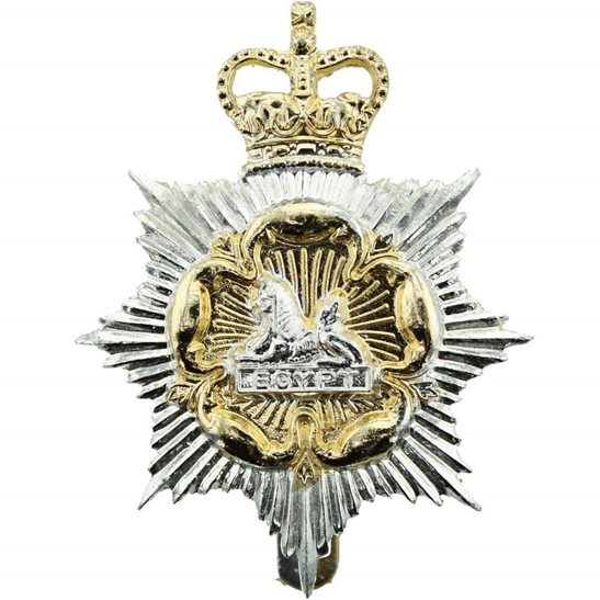 Royal Regiment of Gloucestershire & Hampshire Staybrite Anodised Cap Badge - Staybright