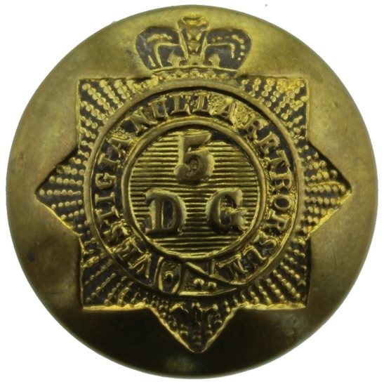 5th Dragoon Guards Post 1953 5th Royal Inniskilling Dragoon Guards Regiment Tunic Button - 26mm