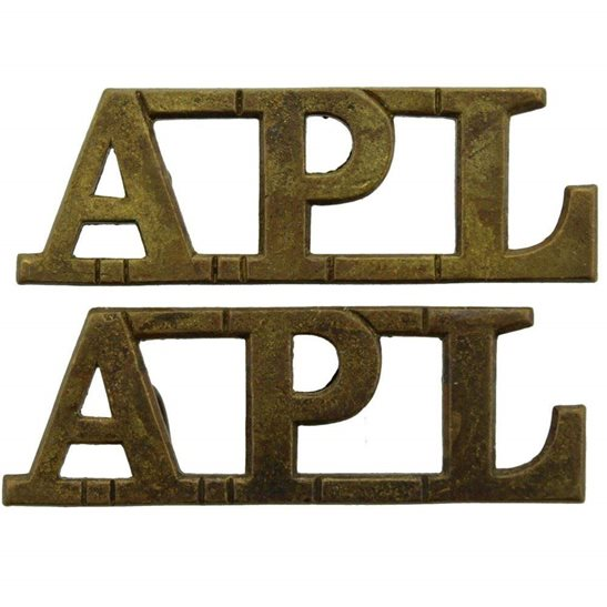 Aden Protectorate Levies British Colonial Regiment APL Shoulder Title PAIR
