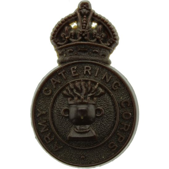 Army Catering Corps ACC WW2 Army Catering Corps ACC PLASTIC Economy Issue Cap Badge