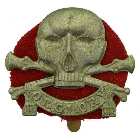 17th / 21st Lancers WW1 17th / 21st Lancers (Deaths Head) Regiment Cap Badge