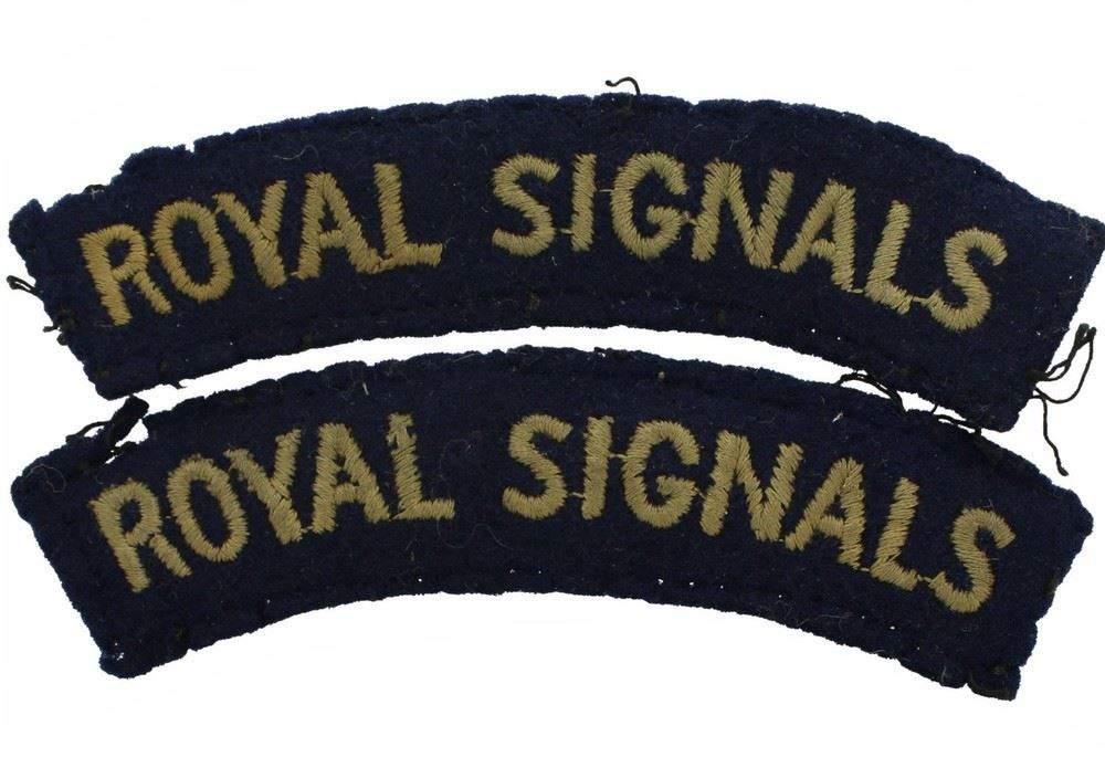 Royal Corps of Signals Cloth Shoulder Titles