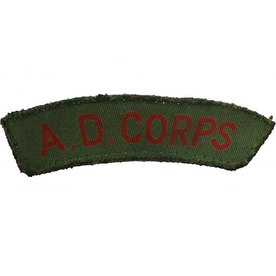 Army Dental Corps WW2 Army Dental Corps ADC Dentist PRINTED Cloth Shoulder Title Badge Flash