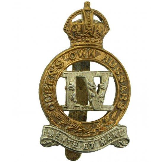 4th Hussars WW1 4th Queens Own Hussars Regiment Queen's Cap Badge