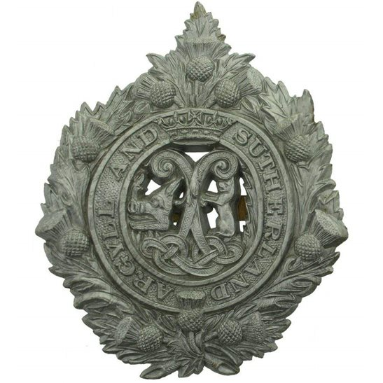 Argyll and Sutherland Highlanders WW2 Argyll and Sutherland Highlanders Regiment PLASTIC Cap Badge