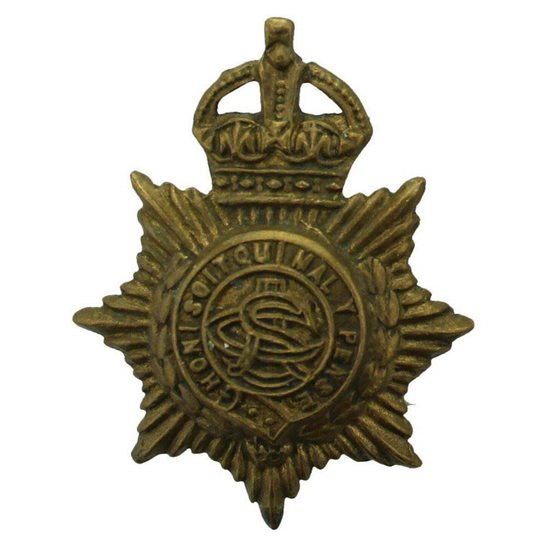 Army Service Corps ASC WW1 Army Service Corps ASC Collar Badge