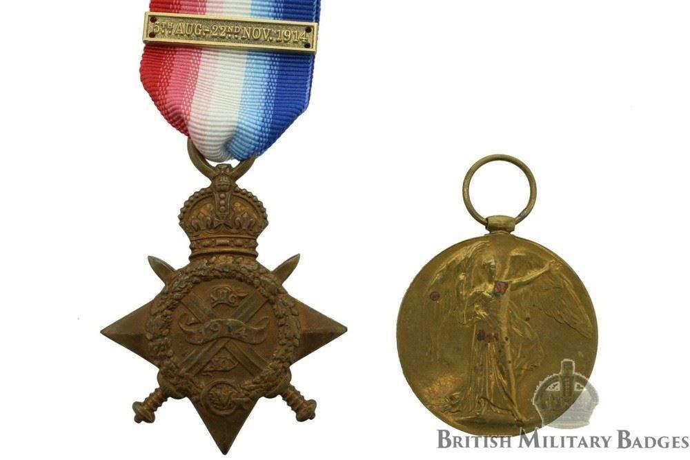 Pin On Ribbon Bar 14-15 Star-British War Medal-Victory Medal Superb Quality WW1