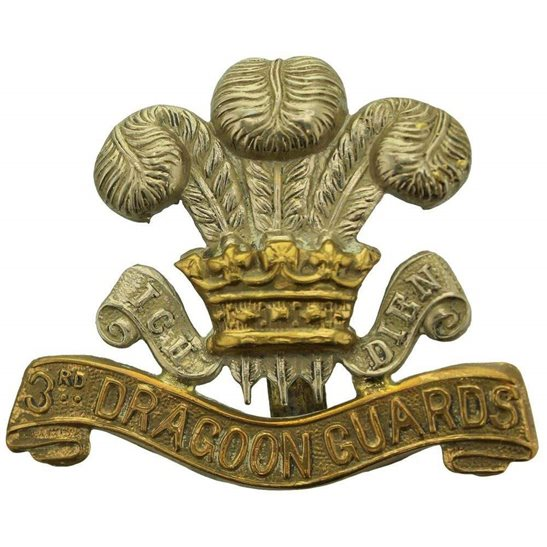 3rd Dragoon Guards WW1 3rd Dragoon Guards Regiment Cap Badge