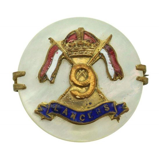 9th Queens Royal Lancers WW1 9th Queens Royal Lancers Regiment Sweetheart Brooch