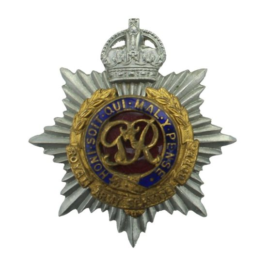 Royal Army Service Corps RASC WW2 Royal Army Service Corps OFFICERS Enamel RASC Cap Badge