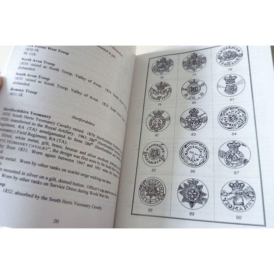 additional image for British Yeomanry Regiments Tunic Buttons 1830-2000 Reference Guide Book