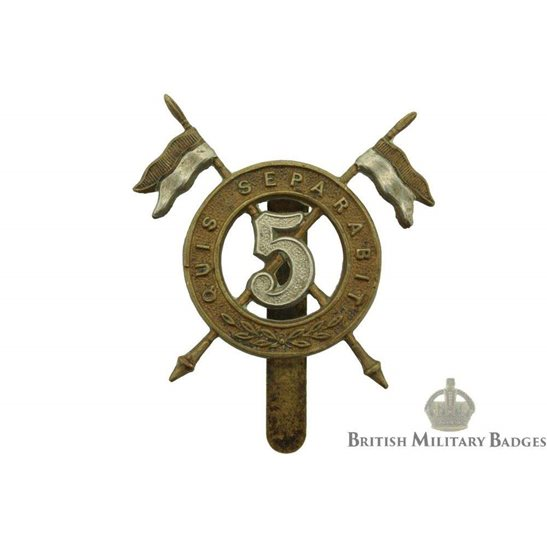 5th Royal Irish Lancers WW1 5th Royal Irish Lancers Regiment Cap Badge