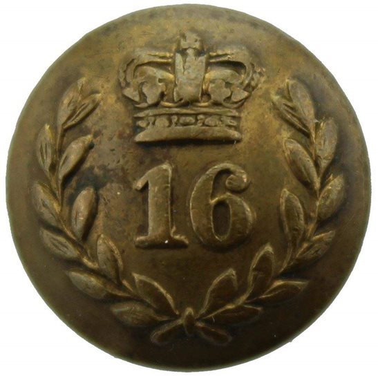 Bedfordshire Regiment VICTORIAN 16th Regiment of Foot (Bedfordshire) 1855-1881 SMALL Tunic Button - 18mm