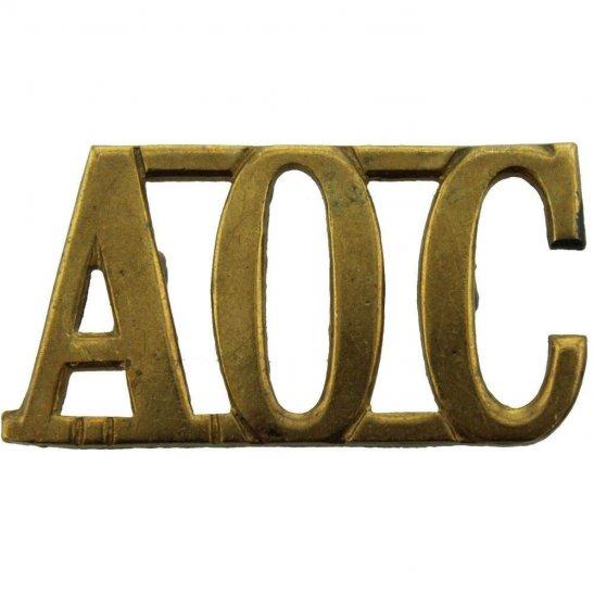 Army Ordnance Corps AOC WW1 Army Ordnance Corps AOC Shoulder Title