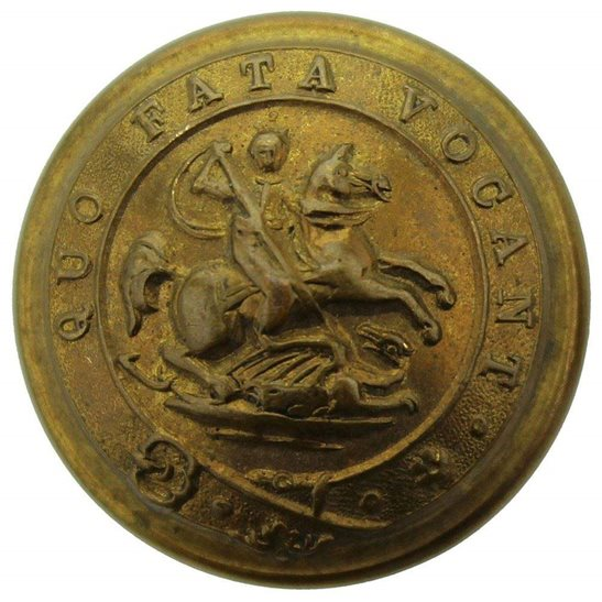 Northumberland Fusiliers WW1 Royal Northumberland Fusiliers Regiment Tunic Button - 26mm
