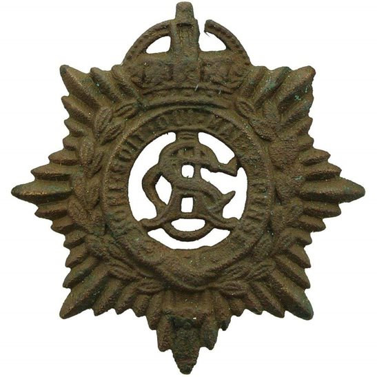 Army Service Corps ASC UK Dug Detecting Find - WW1 Army Service Corps ASC Relic Cap Badge