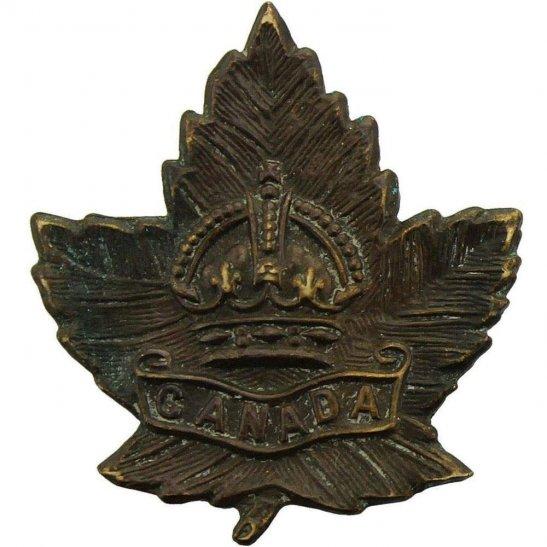 WW2 Canadian Army WW2 Canadian Army Division / Canada Corps CEF Collar Badge