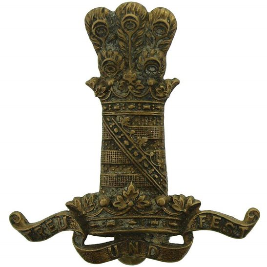 11th Hussars WW1 11th Hussars (Prince Albert's Own) Regiment Cap Badge