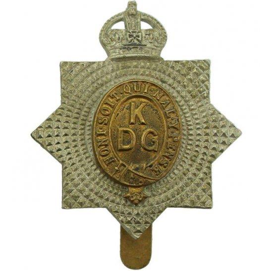 1st Kings Dragoon Guards WW1 1st Kings Dragoon Guards Regiment KDG (King's) Cap Badge - 1ST PATTERN