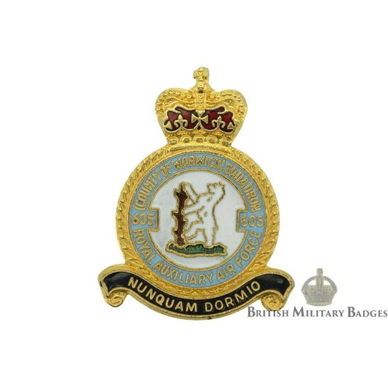 605 Squadron Royal Air Force Lapel Badge RAF