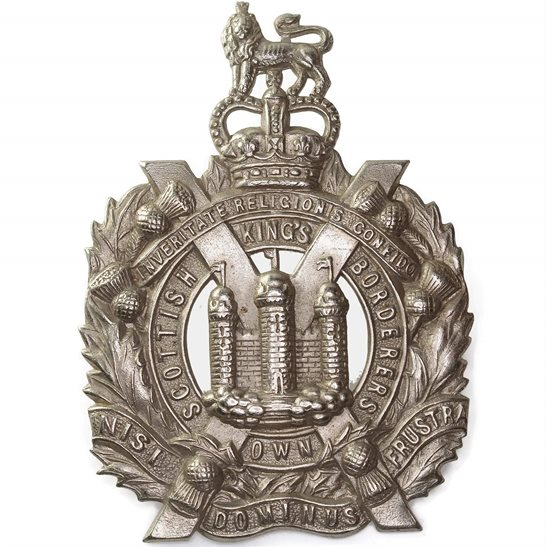 Kings Own Scottish Borderers Queens Crown Kings Own Scottish Borderers Regiment KOSB (King's) Cap Badge