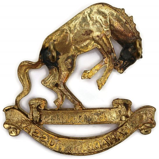 additional image for WW2 14th Canadian Hussars Regiment of Canada Cap Badge