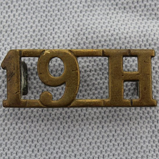 19th Hussars 19th Hussars (Princess of Wales's Own) Regiment Shoulder Title